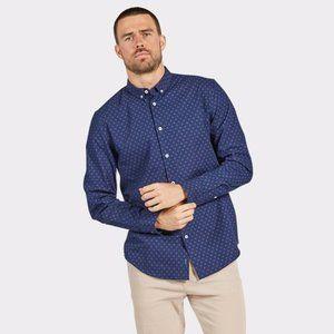 THE ACADEMY BRAND Cotton Landon Collared Shirt NWT